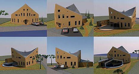 Prefab duurzaam designhuis met BlueGEN brandstofcel voor energievoorziening